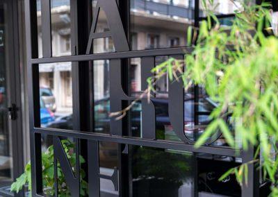 La Hune-coworking Le Havre_Grille métal extérieure